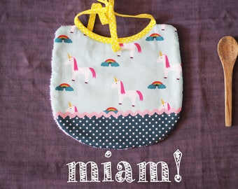 Bib Unicorn and Rainbow patterns