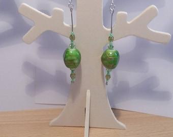 "Earrings - ""Kiwi Passion"""