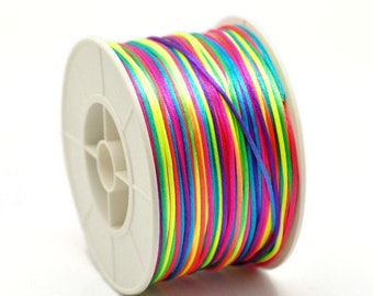 set of 10 m 1.5 mm multicolored polyester yarn
