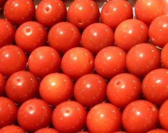 """10 glass beads 10 mm brown rust """"jade"""" VN31"""