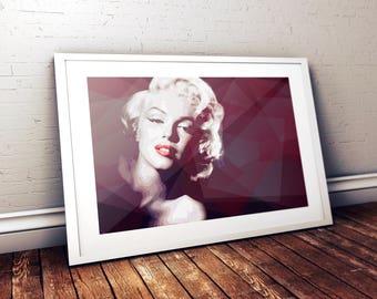SALE  |  Marilyn Monroe - Digital Print - Poster - Illustration - A3