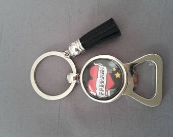 "personalized bottle opener ""Godfather"" by lolaclarabijoux REF:DEPAR28 Keyring"