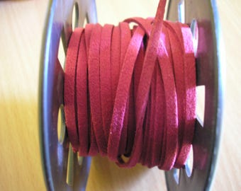 Pink Nubuck suede cord pink 3 mm