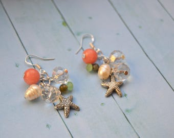 Sailor Style earrings with stones
