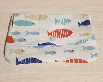 Small pouch for fish theme handbag