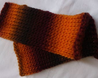 Wool mittens handmade autumn color