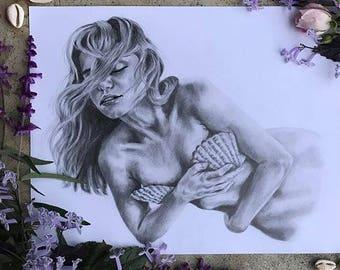 Mermaid Gypsy Boho Art Print