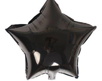 1 black ball shaped star 45cm