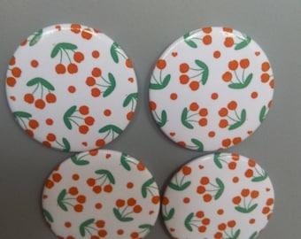 Cherry print magnets