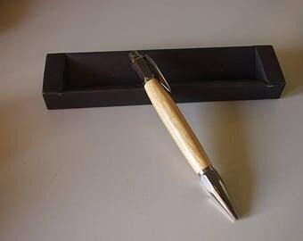 Wooden roller tip pen