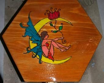 Wooden jewelry box storage box-ash