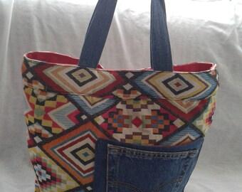 BAG has handmade denim and Aztec