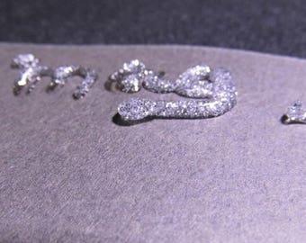 silver glitter glue