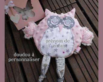 "blanket for any sweet girl ""my little OWL"" customizable"
