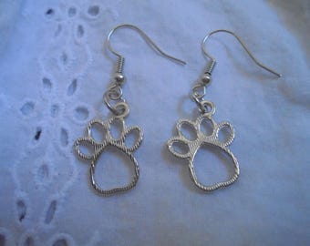 dog paw print earrings