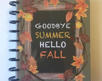 Hello Fall- Happy Planner Classic (Med)- FRONT COVER double sided