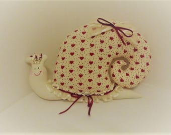 Snail, snail, decoration, romantic, cozy, collection, gift, present, lace, lace, unique, handmade, passionnementseize, France