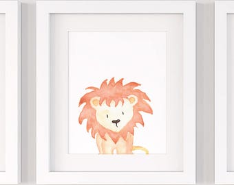 Lion nursery print, PRINTABLE nursery wall art P137