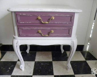 """""""Shabby chic"""" style bedside old Rose"""