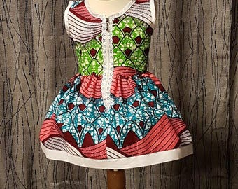 1 dress in wax.   HAND MADE
