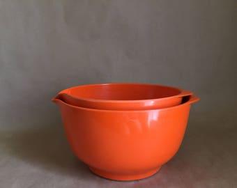 Vintage Danish Rosti Mepal Melamine Magrethe Mixing Bowls (3L & 4L)
