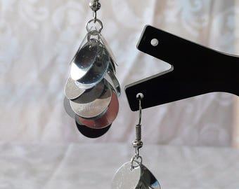 Short Silver earrings 4.5 cm