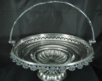 Meriden Britannia Co. Silverplate Bridal Basket