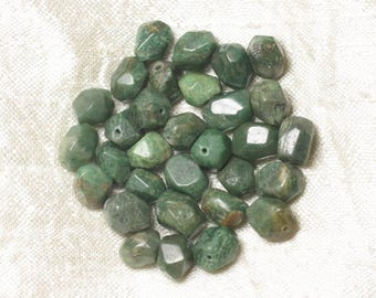 Stone - Jade Nuggets faceted 8mm 4558550037145 beads 10pc-