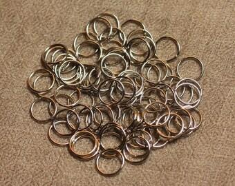100pc - rings 10 mm silver Metal Nickel 4558550028082