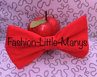 Pretty red bow tie made of spandex