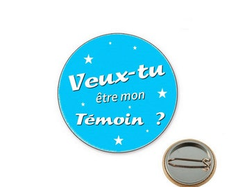 Badge will you be my best man? -Ø25mm pin