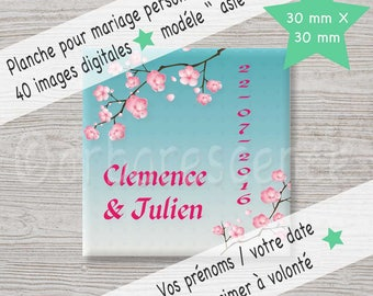 """Mariage """"asie"""" - 40 Images digitales à imprimer à volonté."""