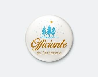 Badge winter wedding - Ceremony officiating