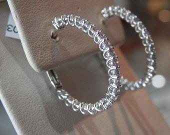 OOAK Handmade Diamond Hoop Earrings (FREE Custom Sizing Available)