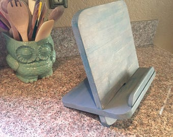 Cookbook and/or iPad and Tablet Stand - Collapsible for Easy Storage - Various Colors