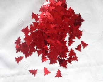 Confetti tree red table decor, hobby deco sequins, sequins.