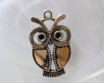 metal OWL charm