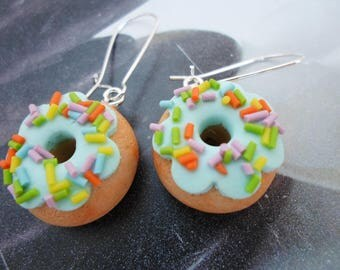 Sweets Donuts earrings - polymer clay