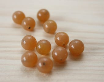 2 glass balls 6 mm hole / caramel 2