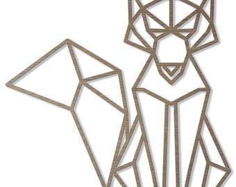 Fox ORIGAMI laser cut wood size C