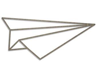 ORIGAMI plane laser cut wood size E