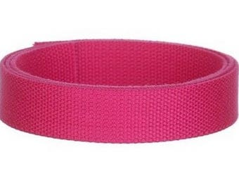 Cotton candy pink 25 mm webbing
