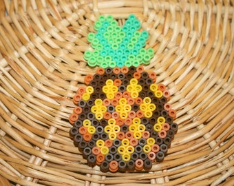 "Decorative ""pineapple"" hama beads"