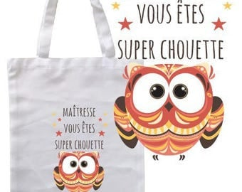 "TOTE BAG 100% cotton ""centerpiece you OWL"""