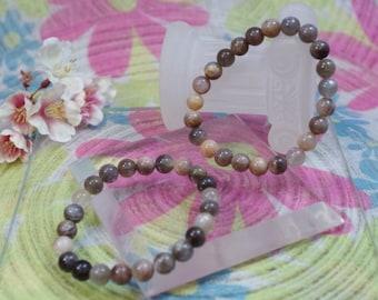 Gemstone bracelet natural black Moonstone