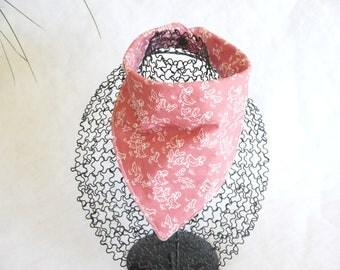 Bavoir bandana foulard cowboy rose et ses petits canards