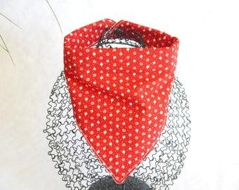 Scarf red cowboy bandana bib