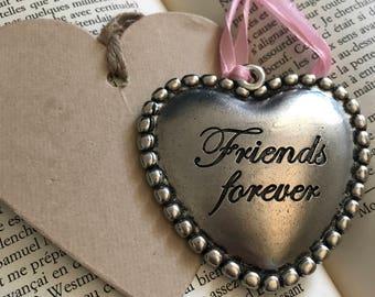 """Big heart metal vintage """"friends forever"""""""