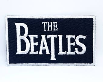 194# The Beatles Rockabilia Music band Iron/ Sew-on Embroidered Patch black
