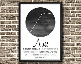 Aries Constellation | Aries Print | Aries Gift | Aries Poster | Aries Constellation Print | Aries Wall Art | Aries Printable | Aries Art